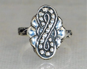 Infinity Ring, Statement Ring, Bohemian Infinity Ring, Tribal Infinity Ring, Sterling Silver ring, Unique Silver Ring, Unique Infinity Ring