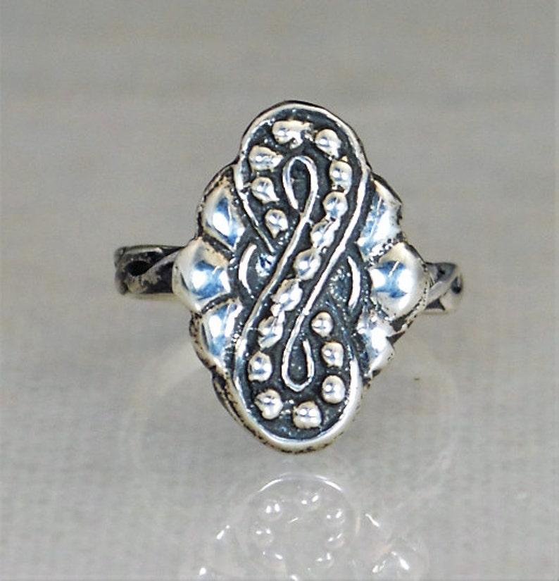 Infinity Ring Statement Ring Bohemian Infinity Ring Tribal image 0