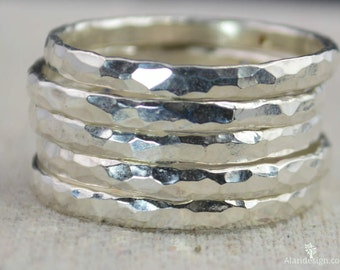 Super Thick Pure Silver Stackable Ring(s), Stack Ring, Stacking Ring, Stackable Ring, Silver Ring, Fine Silver, Pure Silver, Sterling Silver