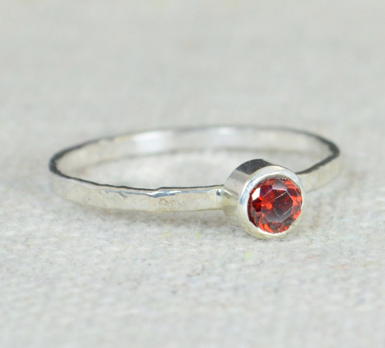 Small Garnet Ring Garnet Ring Natural Garnet Ring Mothers image 0