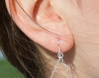 Ruby Earrings, Delicate Earrings, Gold Earring, Sterling Earrings, Rose Earrings, Copper, Dangle Earrings, Gemstone, Ruby Earring