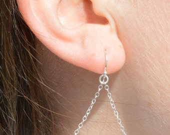 Turquoise Earrings, Delicate Earrings, Gold Earring, Sterling Earrings, Rose Earrings, Copper, Dangle Earrings, Gemstone, Green Earring