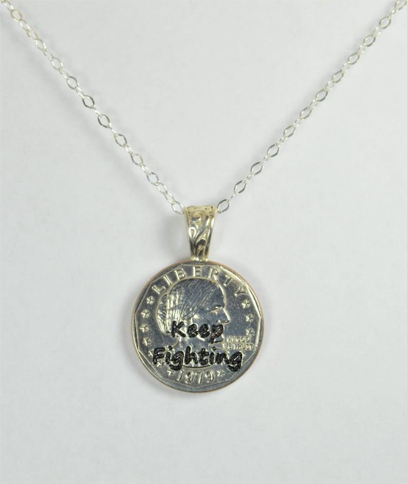 Keep Fighting Keep Fighting Necklace Keep Fighting Jewelry image 0