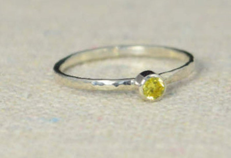 Classic Sterling Silver Topaz  Ring 3mm Silver solitaire image 0