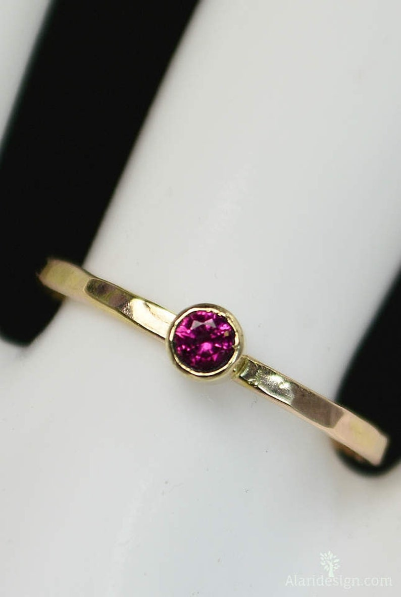 Classic 14k Gold Filled Ruby Ring Gold solitaire solitaire image 0