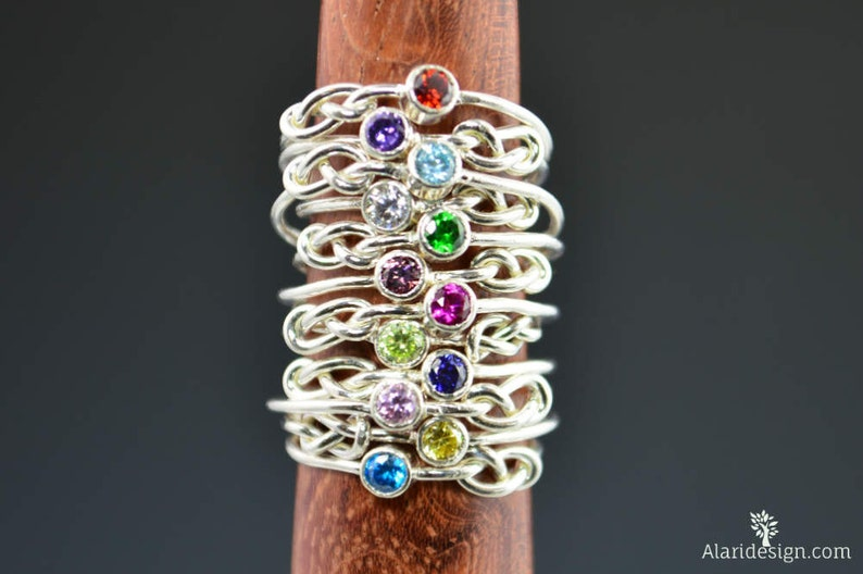 Sterling Silver Infinity Mother's Rings Infinity Ring image 0