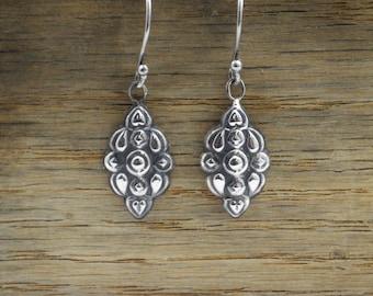 Statement Earrings, Bohemian Earrings, boho earrings, Tribal Earrings, Silver Earrings, Dangle Earrings,  Light Earrings, Drop Earrings