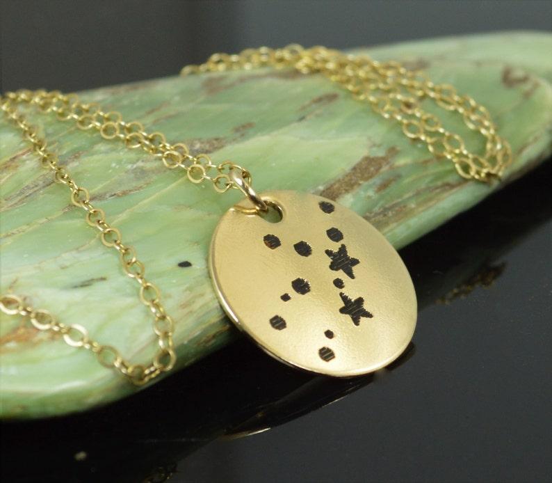 14k Gold Filled Virgo Necklace Gold Virgo Necklace Gold image 0