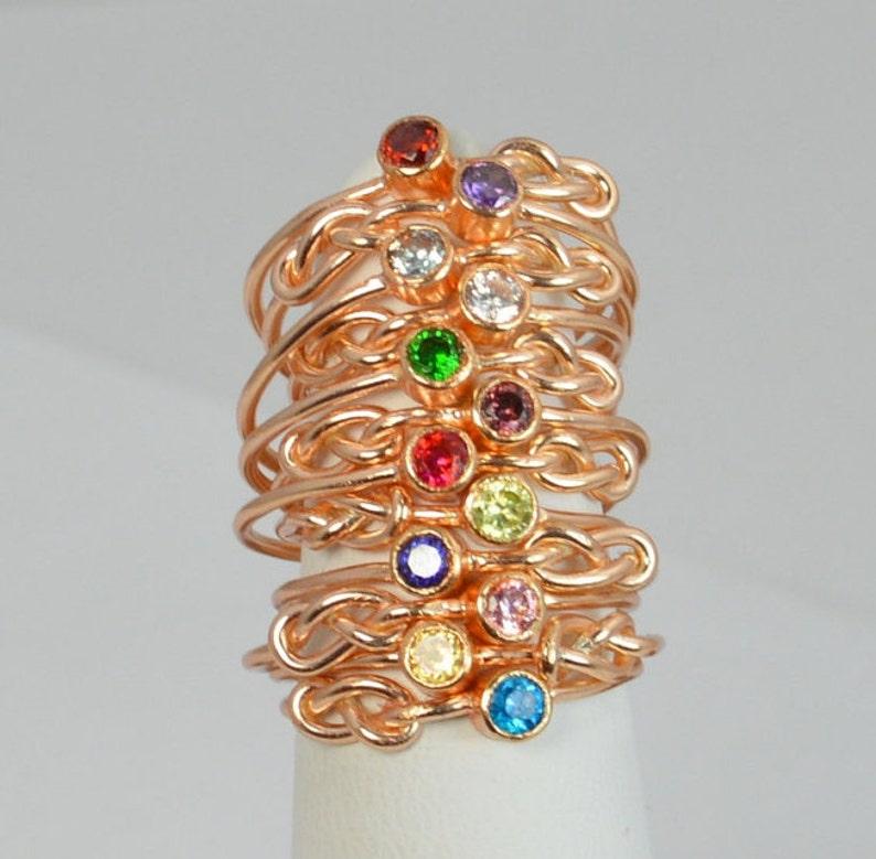 14k Rose Gold Filled Infinity Ring Rose Gold Filled Ring image 0