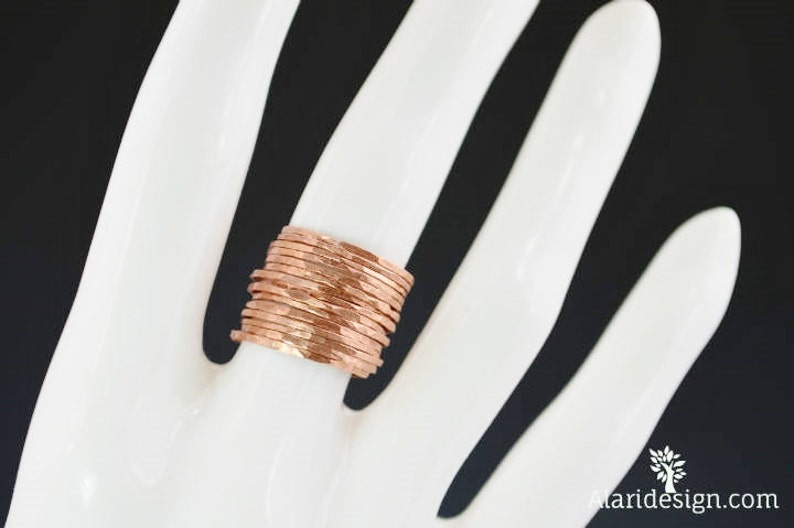 Set of 15 Super Thin Copper Stackable Rings Stackable Ring image 0