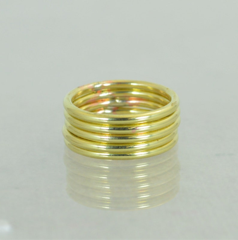Round Classic Size Brass RingsBrass Ring Brass Stacking image 1