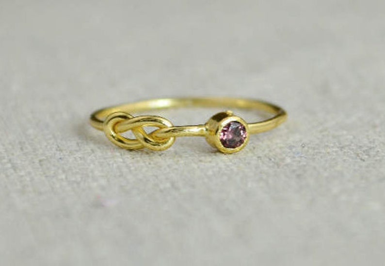 Alexandrite Infinity Ring Gold Filled Ring Stackable Rings image 0