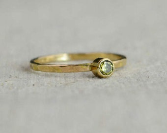 Classic 14k Gold Filled Topaz Ring, Gold solitaire, solitaire ring, 14k gold filled, November Birthstone, Mothers Ring, gold band, yellow