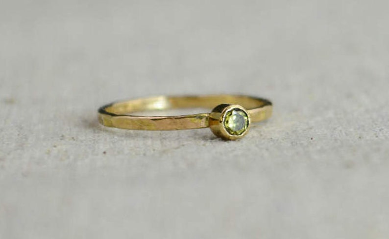 Classic 14k Gold Filled Topaz Ring Gold solitaire solitaire image 0