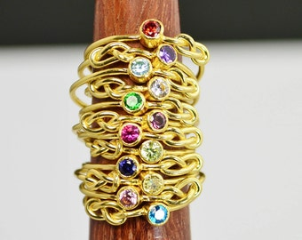 14k Gold Filled Infinity Ring, Gold Filled Ring, Stackable Rings, Mother Ring, Birthstone Ring, Gold Infinity Ring, Gold Knot Ring, Solitare