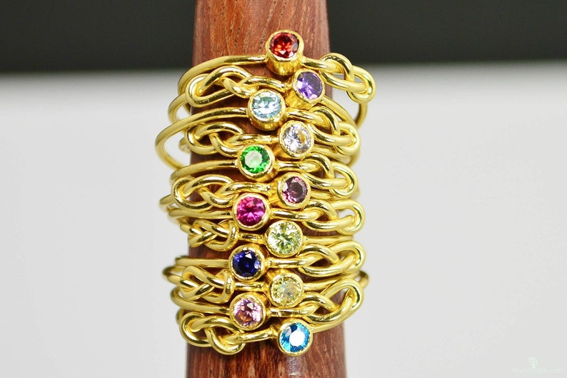 14k Gold Filled Infinity Ring Gold Filled Ring Stackable image 0