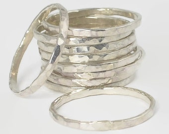 Classic Silver Stacking Ring(s), Petite Stacking Ring, Stack Ring, Stacked Ring, Thin Boho Ring, Stacking Ring, Stackable Ring, Silver Rings