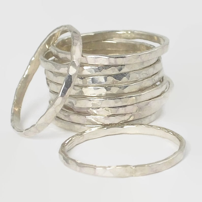 Classic Silver Stacking Rings Petite Stacking Ring Stack image 0