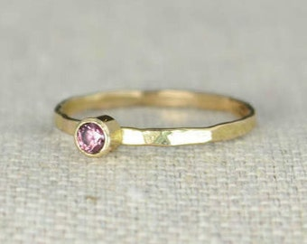 Classic 14k Gold Filled Alexandrite Ring, Gold solitaire, solitaire ring, 14k gold filled, June Birthstone, Mothers Ring, gold band, yellow