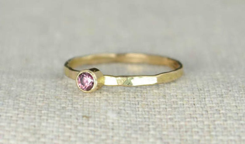 Classic 14k Gold Filled Alexandrite Ring Gold solitaire image 0