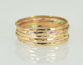 Super Thin Bronze Stacking Ring(s), Hammered Bronze Ring, Simple Bronze Ring, Bronze Band, Hammered Bronze, Stacking Rings, Thin Bronze Ring