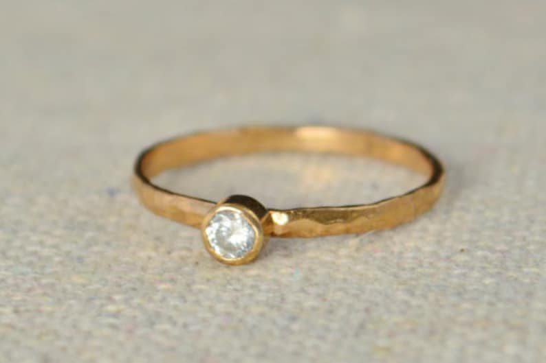 Classic Rose Gold Filled CZ Diamond Ring solitaire solitaire image 0