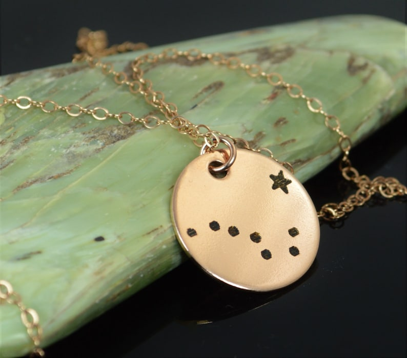 14k Rose Gold Filled Big Dipper Necklace Rose Gold Necklace image 0