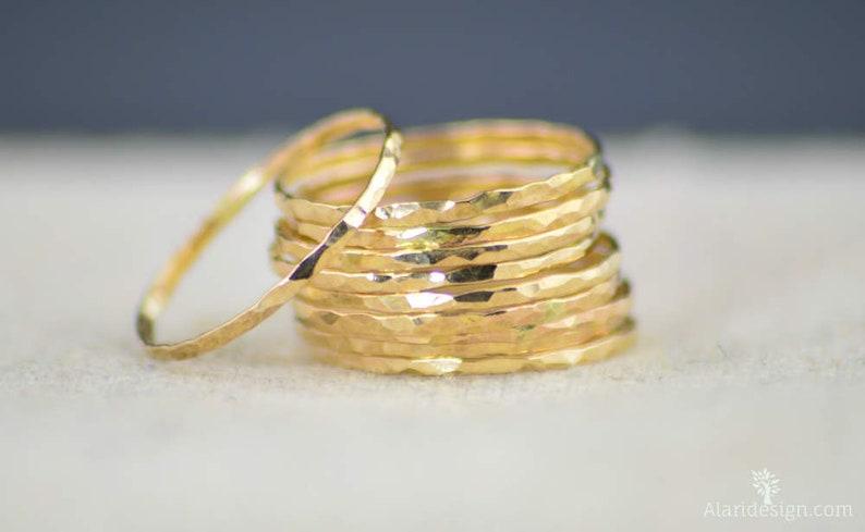 Gold Stack Ring 14k Gold Filled Ring Stack Ring Thin Gold image 0