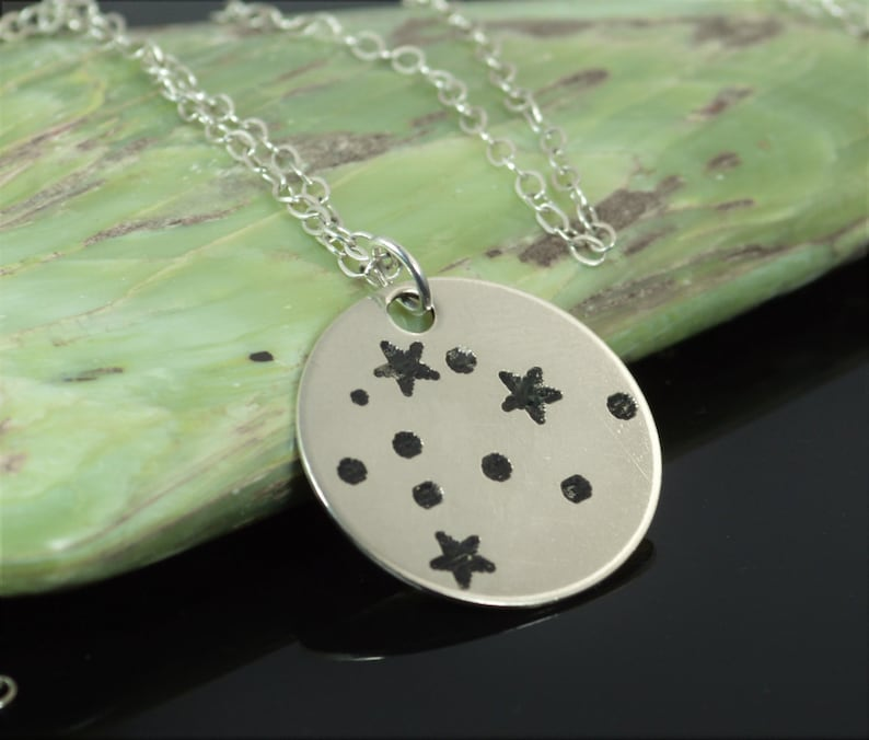 Sterling Silver Aquarius Necklace Aquarius  Necklace image 0