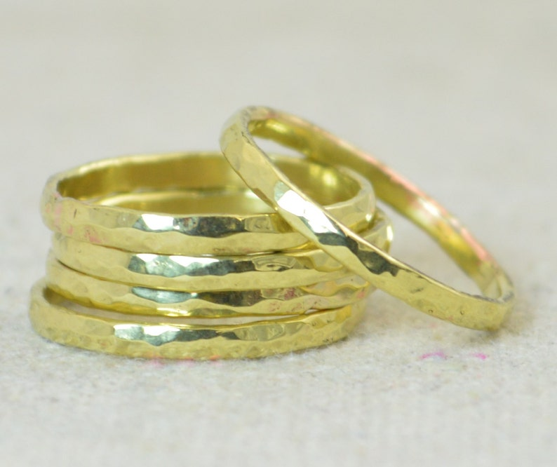 Thick Stackable Brass Rings Brass Rings Stackable Rings image 0