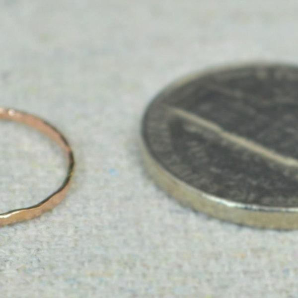 Rose Gold Midi Ring Rose Gold Filled Dainty Midi Rings image 3