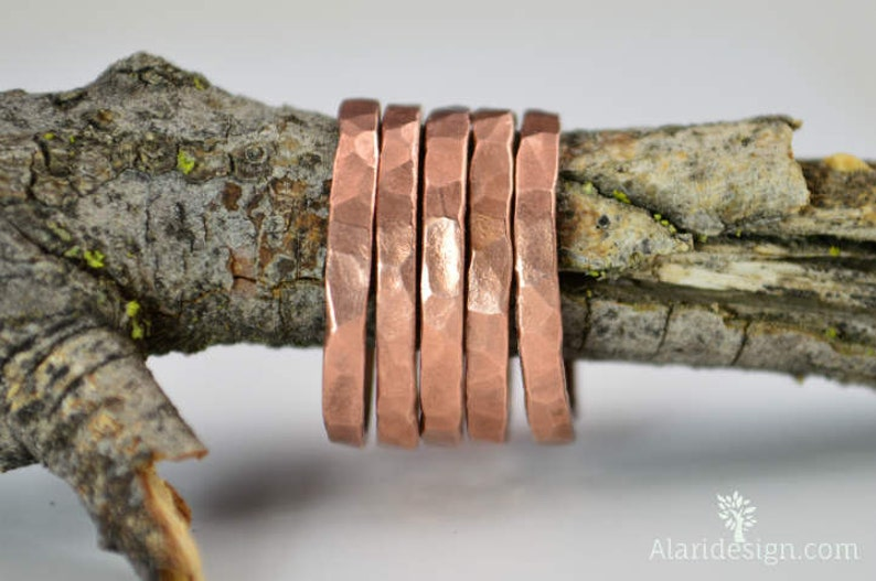 Super Thick Stackable Copper RingsCopper RingsStackable image 0