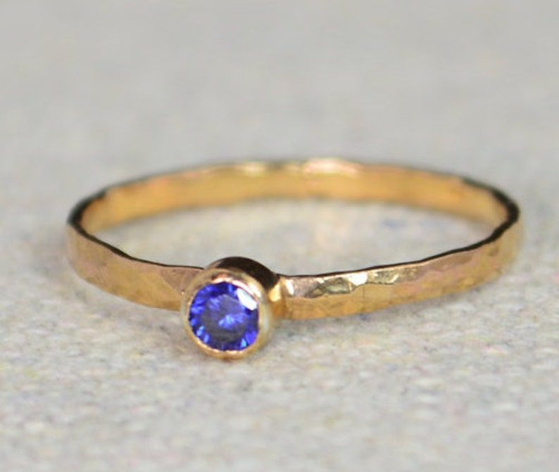 Classic Rose Gold Filled Sapphire Ring solitaire solitaire image 0