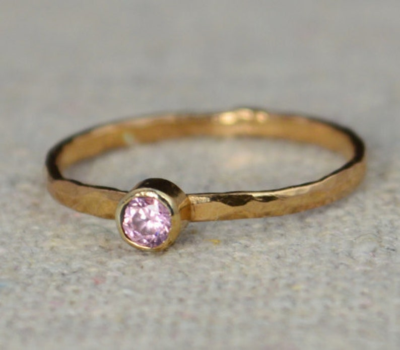 Classic Rose Gold Filled Tourmaline Ring solitaire solitaire image 0