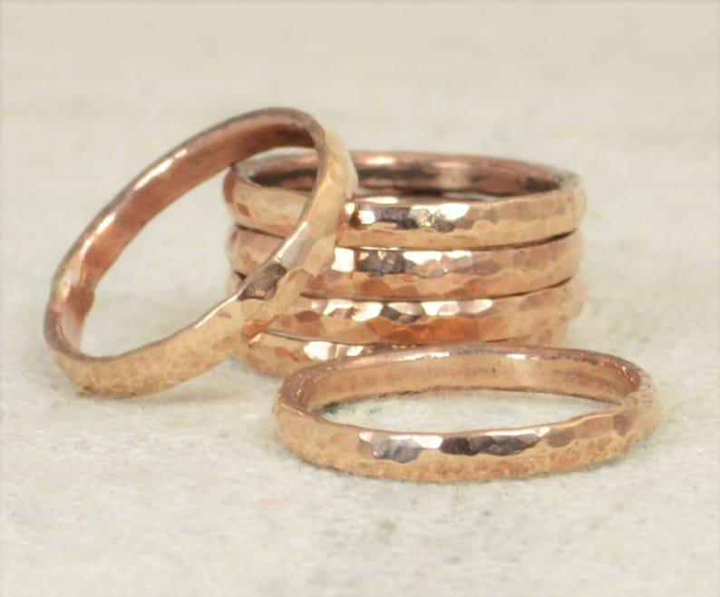 Super Thick Stackable Bronze Rings Bronze RingsStackable image 0