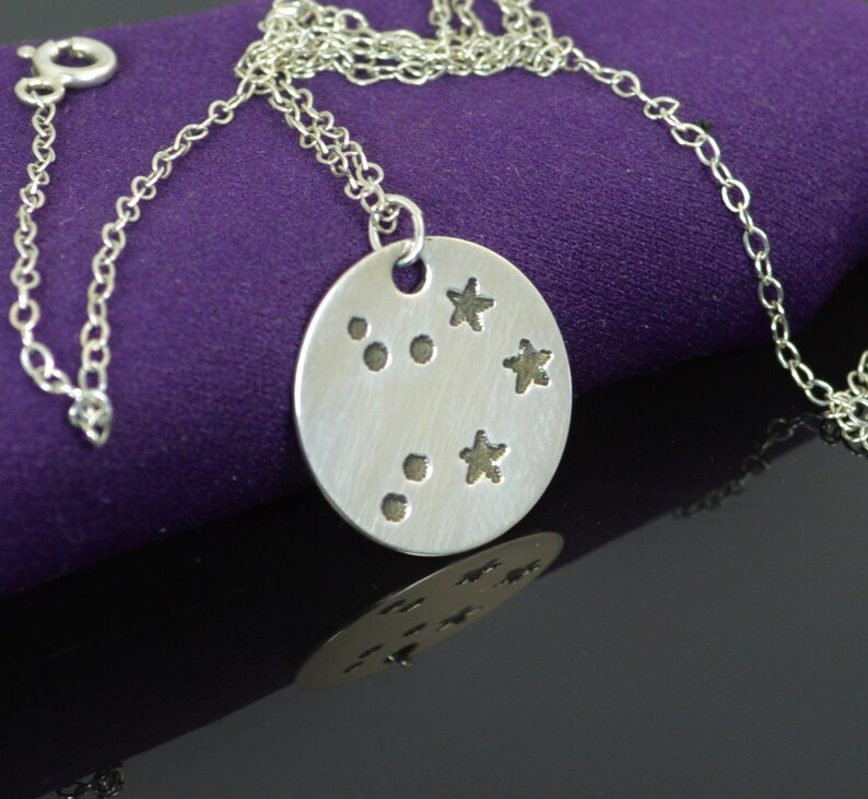 Sterling Silver Libra Necklace Libra Necklace Sterling image 0