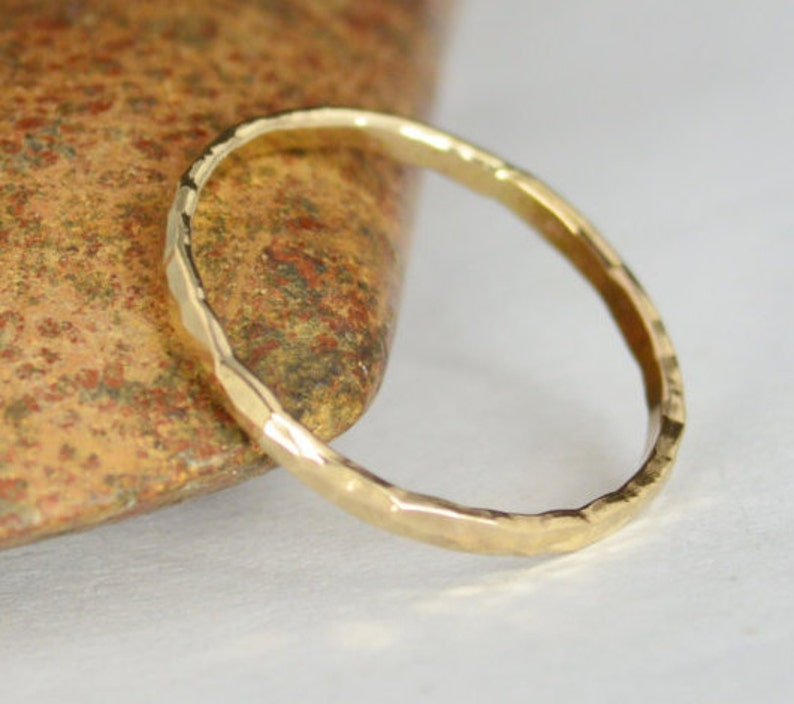 Classic Solid 14k Gold Stacking Ring Gold Band  Gold Ring image 0