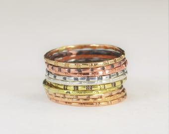 Bamboo Rings, Bohemian Rings, BoHo Rings, Hippie Rings, Gypsy Rings, Rustic Rings, Silver Ring, Brass Ring, Bronze Ring, Gold Ring-A17