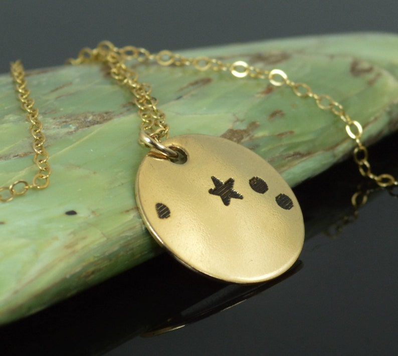 Aries Pendant 14k Gold Filled Aries Sign Aries Zodiac image 0