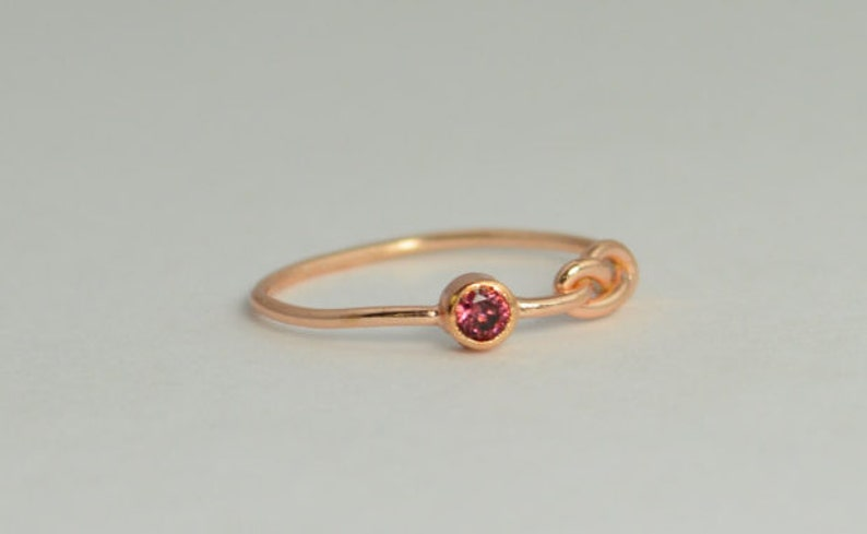 14k Rose Gold Alexandrite Infinity Ring 14k Rose Gold image 1
