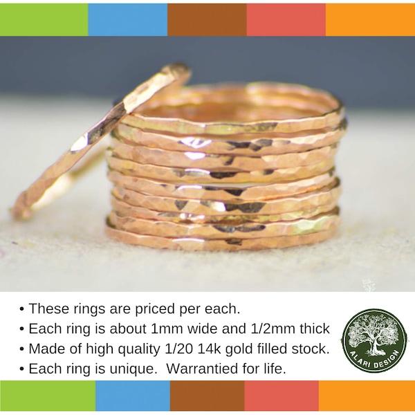 Rose Gold Midi Ring Rose Gold Filled Dainty Midi Rings image 1
