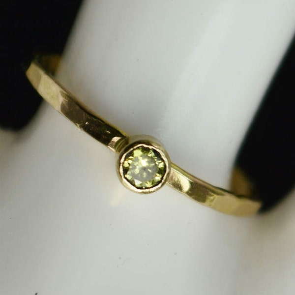 Classic 14k Gold Filled Topaz Ring Gold solitaire solitaire image 1