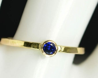 Classic 14k Gold Filled Sapphire Ring, Gold solitaire, solitaire ring, 14k gold filled, September Birthstone, Mothers Ring, gold band