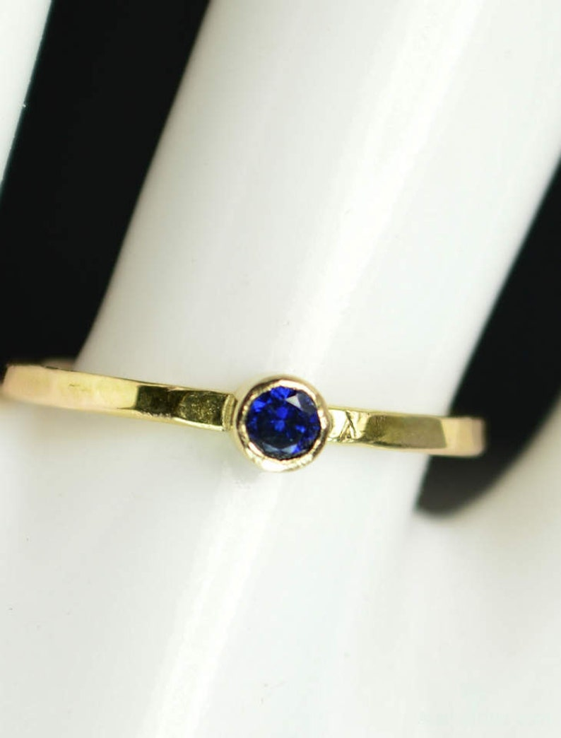Classic 14k Gold Filled Sapphire Ring Gold solitaire image 0