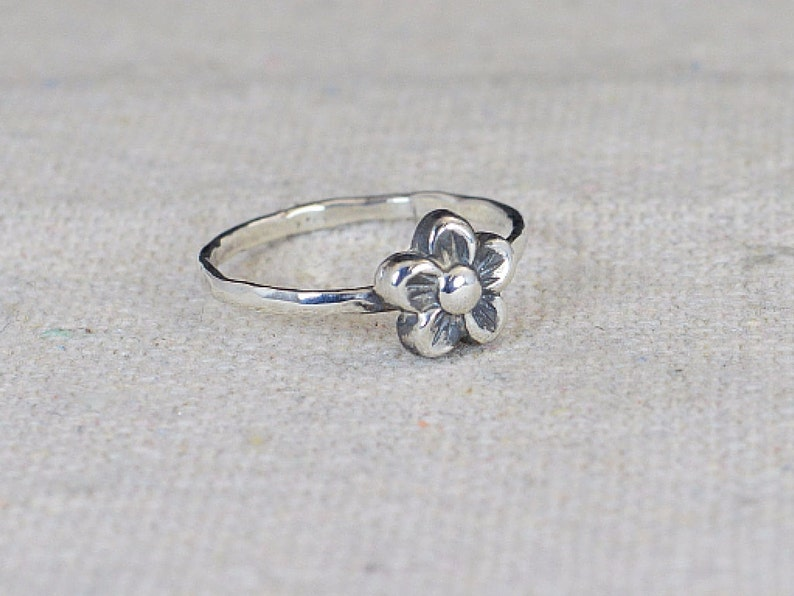 Small Flower Ring Silver Flower Ring Sterling Silver Ring image 0