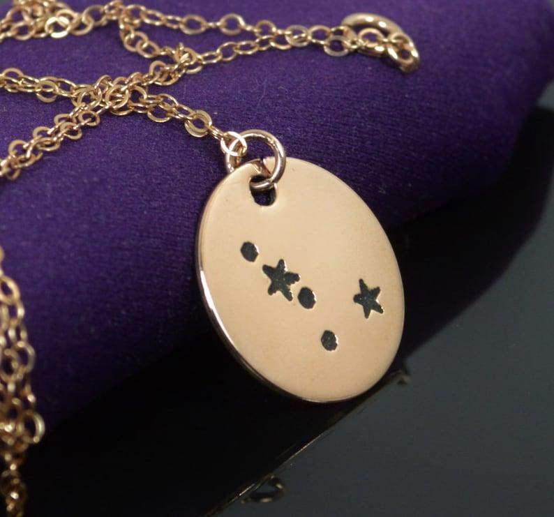 14k Rose Gold Filled Cancer Necklace Cancer Necklace Rose image 0