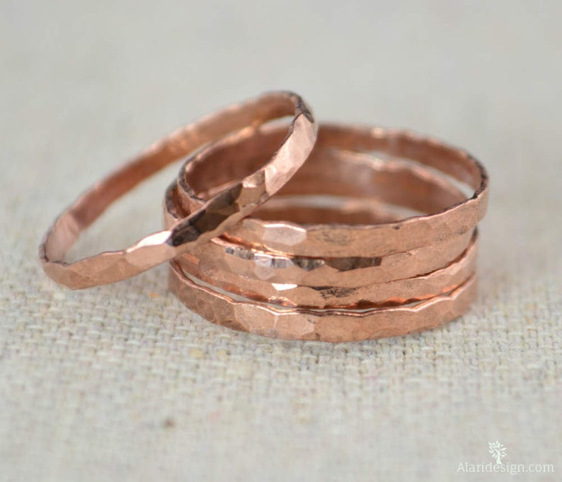 Thick Stackable Copper Rings Copper Rings Stackable Rings image 0