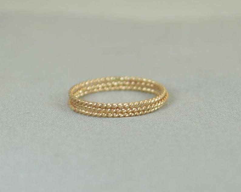 Gold Spiral Rings 14k Gold Filled Ring Stacking Ring Boho image 0
