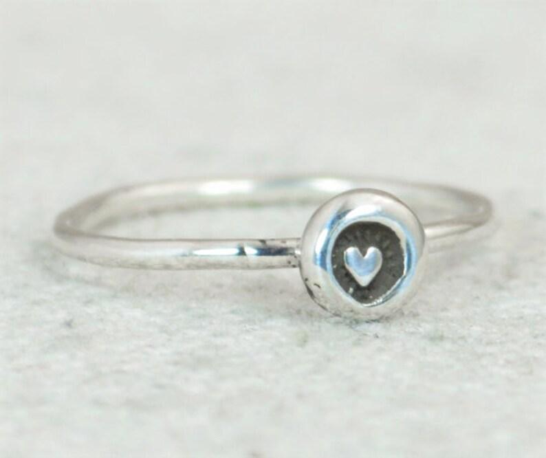 Heart Ring BoHo Heart Ring Bohemian Heart Ring Bohemian image 0