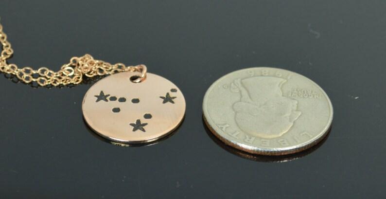 14k Rose Gold Filled Capricorn Necklace Capricorn Necklace image 0